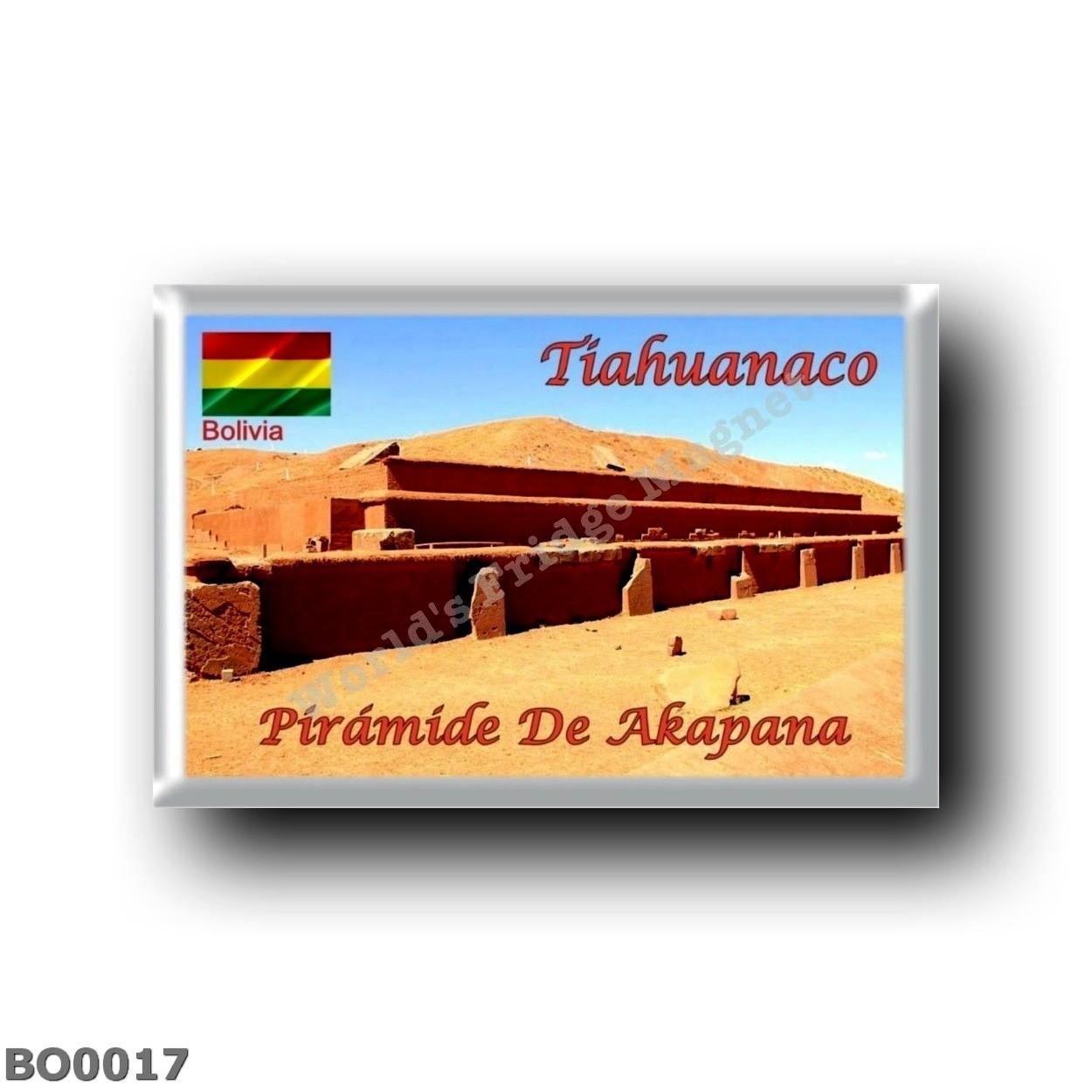 BO – Tiahuanaco – Pyramid Akapana rectangular refrigerator magnet – World's  Fridge Magnet
